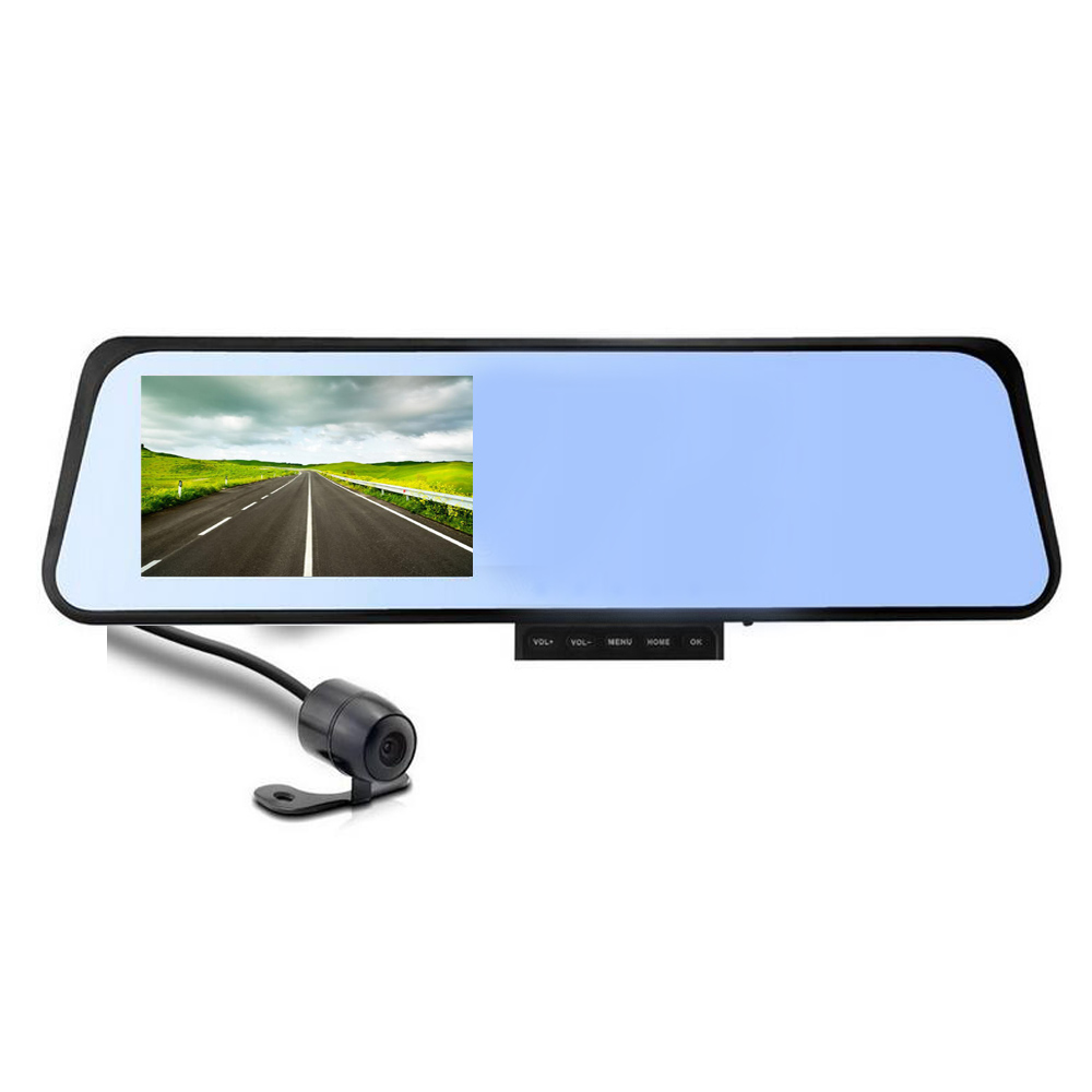 4.3 inch Rearview Mirror Camera Video Recorder Car DVR Dual lens Full HD 1080P Camcorder G-Senor Night Vision Dash Cam