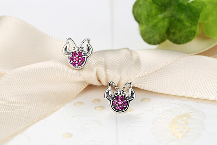 Sterling Silver Cat Sparkling Earrings
