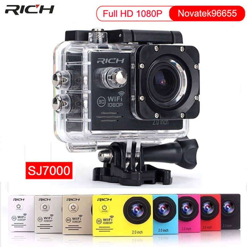 Action Camera Full HD 1080P 30fps Underwater 30m Waterproof Helmet Cam Wifi Extreme Sports Video camera