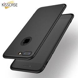 KISSCASE Ultra mince mat TPU étui pour iPhone 6 6 s 7 Plus 5 5 S SE noir couverture pour iPhone 7 6plus souple Capa pour iPhone 6 6 S Capa