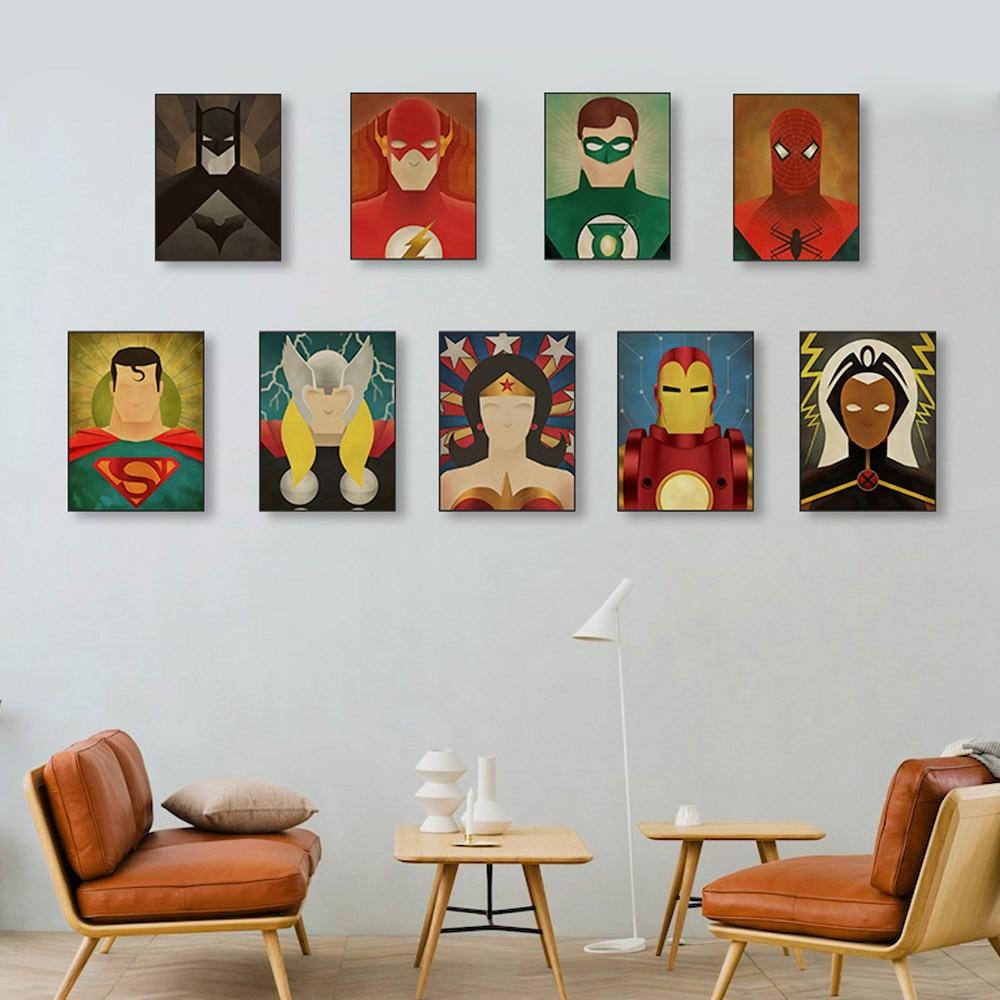 Superhero Canvas Room Decor
