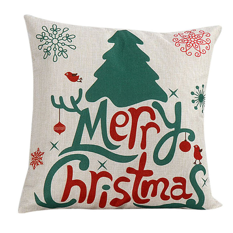 Intimate Merry Christmas & Cute Christmas Santa Claus Sofa Bed Home Decor Pillow Case Cushion Cover papai noel Sunshine