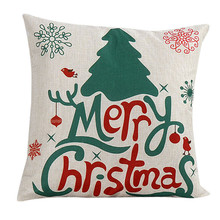 Intimate Merry Christmas Cute Christmas Santa Claus Bed Home Pillow cushion Case Cover papai noel Sunshine
