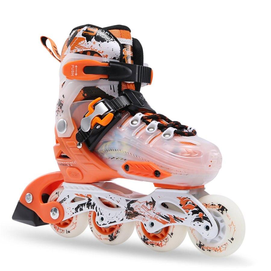 EUR size 30 33 34 37 Adjustable Children Inline Skates Kids Roller Skating Shoes Slalom Free