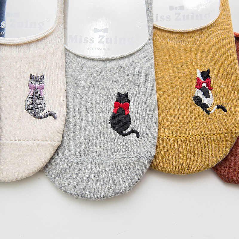 2019 אביב קיץ Kawai כותנה לא להראות גרבי נשים החלקה חתול אסתטי אופנה דפוס בלעדי ורוד חתול Paw גרבי פטיש אינדי