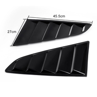 For Ford Mustang 2015 2016 2017 Car Side Window 1/4 Scoop Louver Cover Pair Black Auto Styling Mouldings 1pair