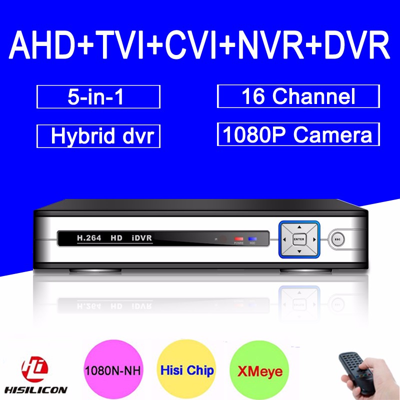 TP-0516H Model Hisiclion Chip Metal Case DVR 16 Channel 16CH 1080P,1080N,960P,720P 5 in 1 Hybrid CVI TVi NVR AHD DVR picture 01