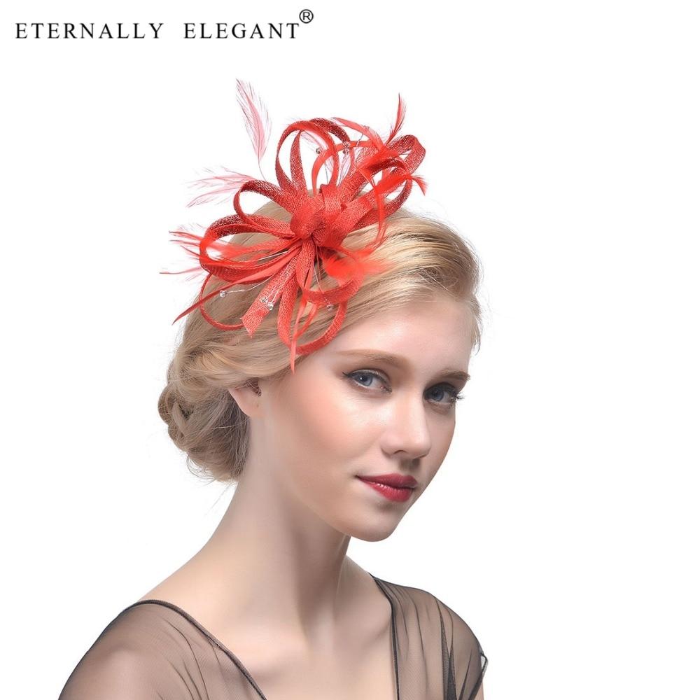 Fashion Feather Headdress Bridal Hair Headwear Accessories Elagant Ladies Party Bridal Hat For Wedding