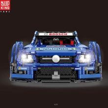 купить Mould king Technic 13073 MOC-6687 Blue Racing Car Set Building Blocks Bricks App Control RC Cars Kid Toy по цене 5451.48 рублей