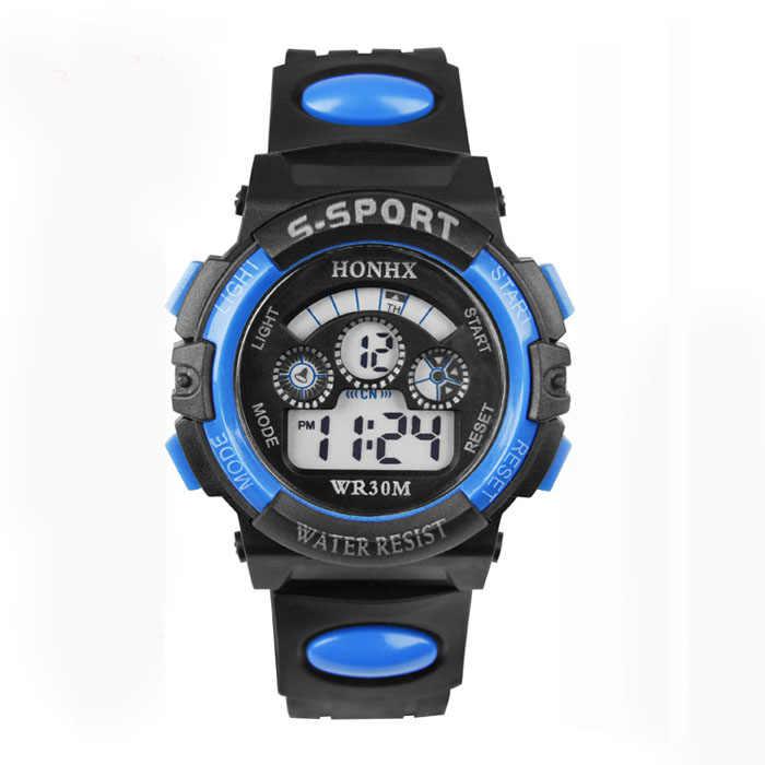 Nouvelle mode étanche enfants enfants garçon montres numérique LED Quartz alarme Date sport électronique Quartz montre-bracelet livraison directe N50