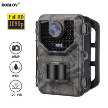 BOBLOV E2 1080P Hunting Camera Infrared Night Vision Waterproof Trail Cam Outdoor Wild Game for Photo Traps