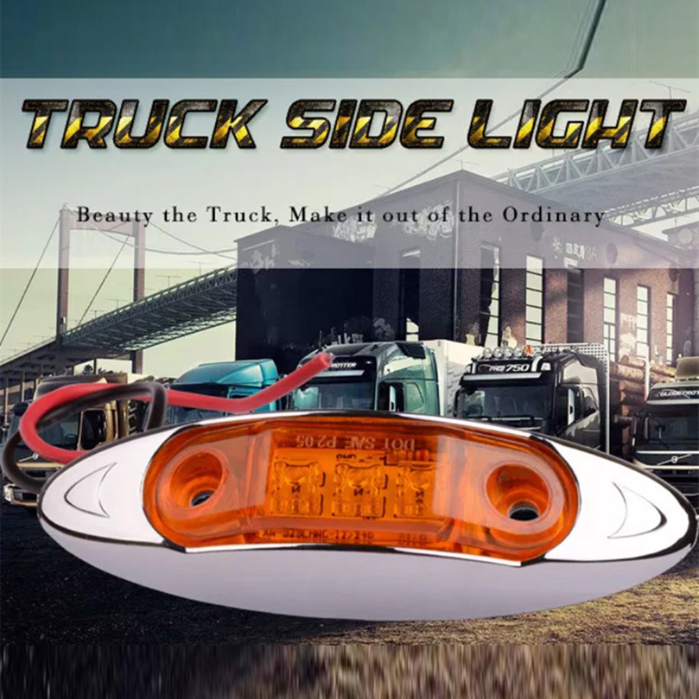 AUTO 10x12 V 24 V 3 Led Tow Truck Side Marker Light LED Submersible Lamp HID