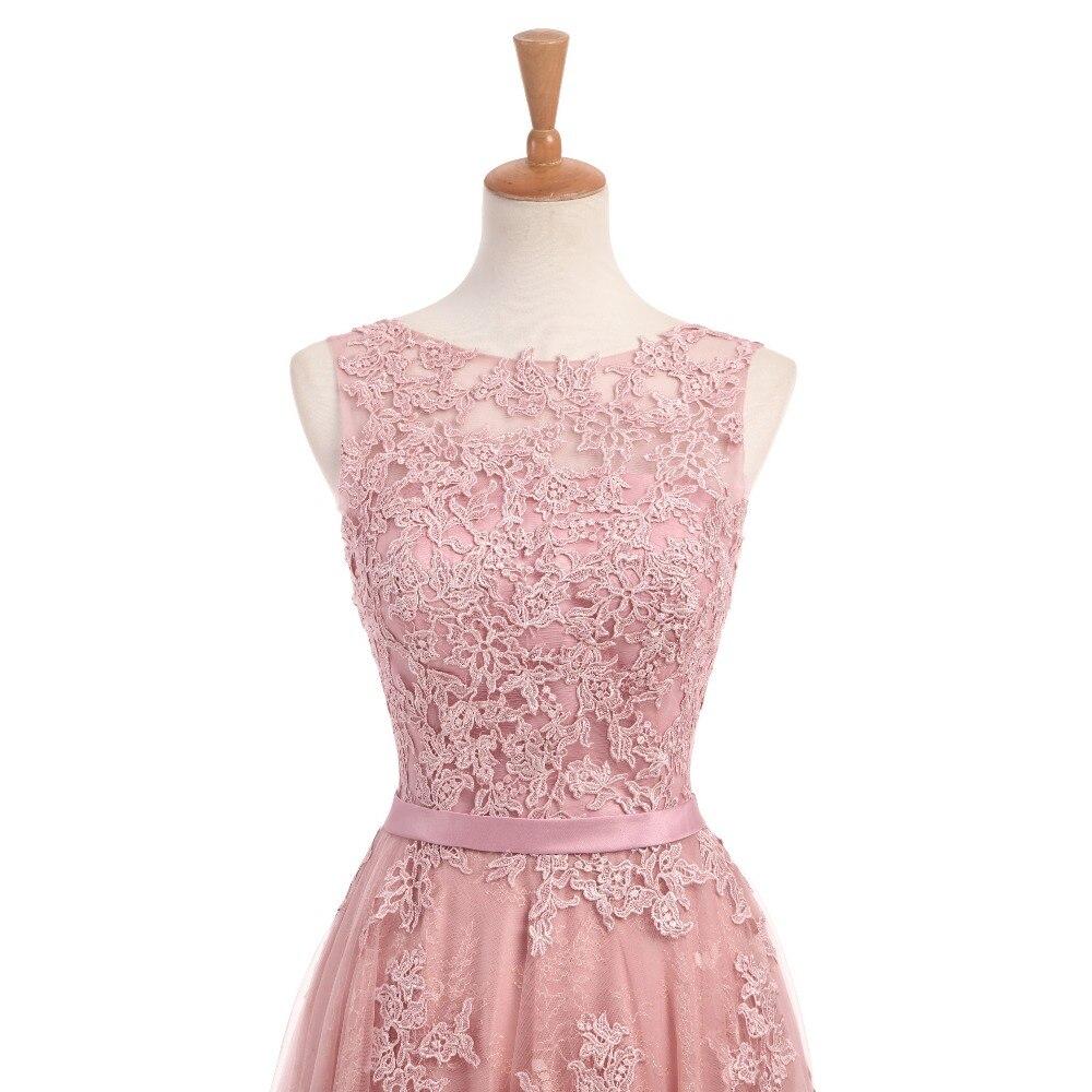 Dusty Rose Elegant Long Evening Dresses 2017 A-Line Lace Appliqued - Särskilda tillfällen klänningar - Foto 4