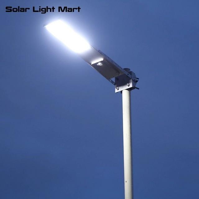 Alpha 2020X กันน้ำกลางแจ้ง Motion Sensor Solar Powered LED POLE Wall Street Light สำหรับ Garden 3 โหมดการทำงาน