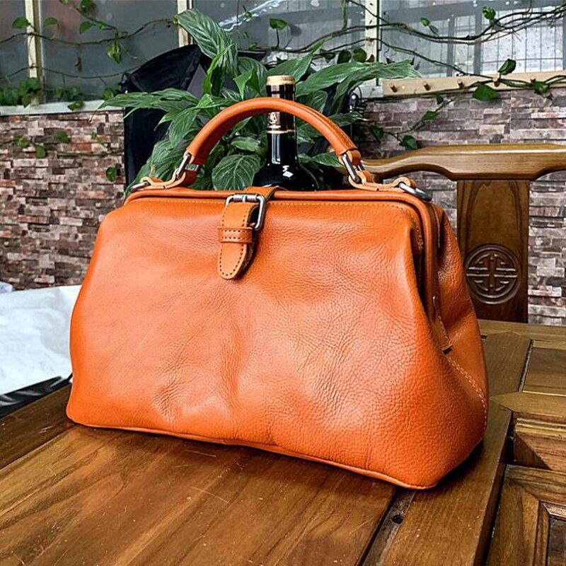 Для женщин сумки Одежда высшего качества из натуральной кожи плеча доктор сумки Для женщин сумка ручной Природный теплые модные женские ту...