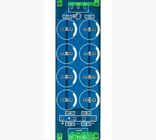2pcs/lot audio / dual power amplifier, power filter board, PCB board, can be installed 2200u 4700uF 50V