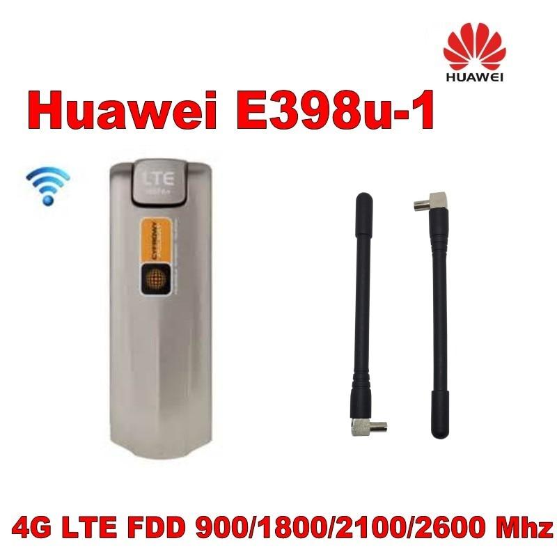все цены на Unlocked Original HUAWEI E398 E398u-1 4G LTE TDD FDD 100Mbps USB Surfstick USB Wireless Modem + 4g antenna онлайн