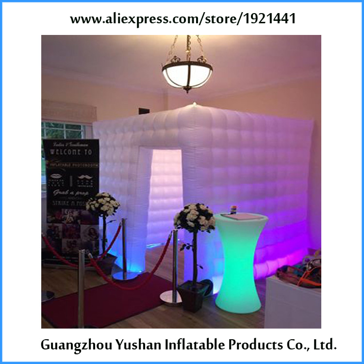 7.8ft Inflatable Lighting Wall For Photo Booth with LED Lights /& Internal Blower