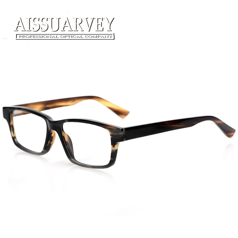 aissuarvey top quality private custom eyeglasses luxury natural horns fashion glasses frame optical free lettering 02