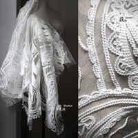 Текстурная вышивальная нитка шерстяной тканый сетчатый дизайнерский материал для patchwork ворка Базен riche getzner tissus telas por metros