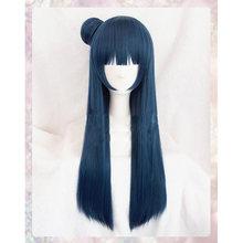 Lovelive sunshine tsushima yoshiko peruca cosplay traje amor ao vivo aqour yohane feminino cabelo sintético halloween role play perucas