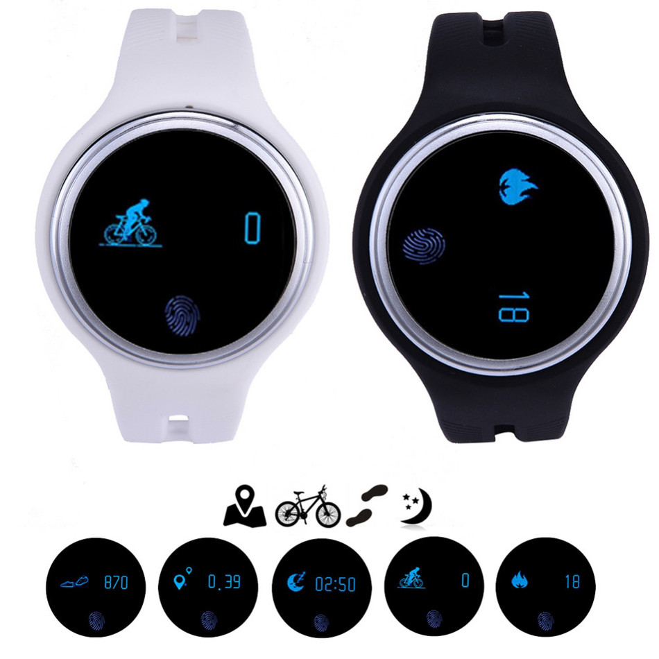 new E07 Bluetooth font b Smart b font Bracelet IP67 Waterproof Pedometer Fitness Tracker Sport Smartband