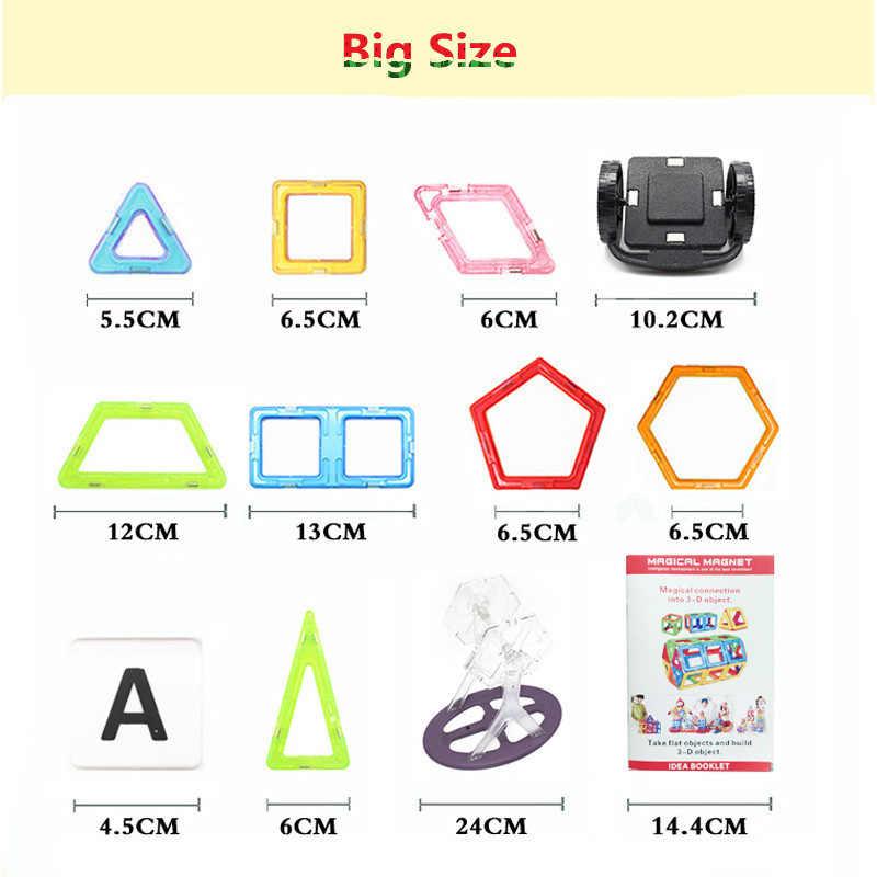 Мини/большой размер 175 шт. магнитные дизайнерские строительные блоки модель и строительные игрушки развивающие кубики кирпичи магнитные игрушки для детей