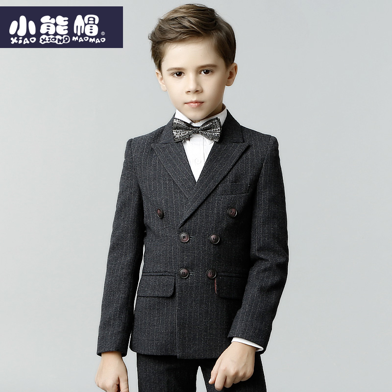 Boys suit, winter suit, England style, double-breasted, childrens suit, three-piece suit jacketBoys suit, winter suit, England style, double-breasted, childrens suit, three-piece suit jacket