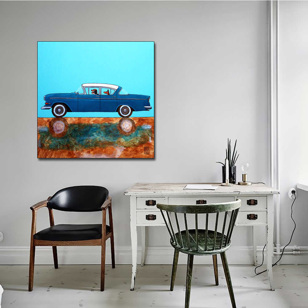 AAHH Animal Cartoon Posters Sports Car Painting/Picture Wall Art Picture Canvas Painting Print on Canvas Decor for Home No Frame