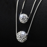 Real 925 Sterling Silver Necklaces Pendant Fashion Sterling Silver Jewelry Statement Necklace For Women