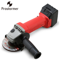 PROSTORMER 21V Cordless Angle Grinder Cutting Polishing Grinding Machine Power Tool Li Ion Battery Rechargable Electric