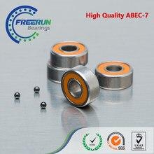 3PCS SMR105 2OS 2RS 5X10X4 MM ABEC 7 LD ORANJE RUBBER rvs hybride keramische kogellager