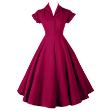Womens Classic 1940s 50s 60s Celebrity Vintage Retro Style Rockabilly Pin up Swing Black Burgundy Maxi Wedding Party Dresses