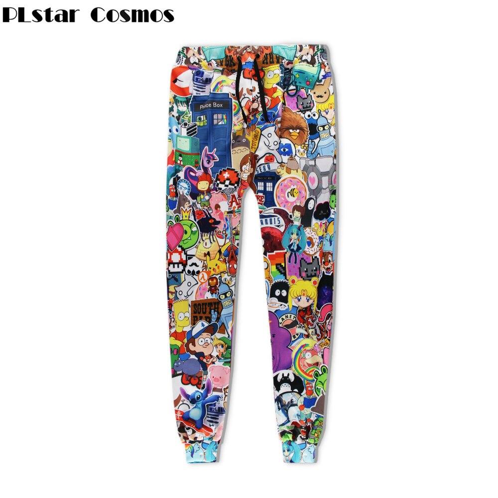 PLstar Cosmos Free Shipping 2018 New Fashion Men/Women Sweat Pants Cartoon Adventure Time 3d Print Casual Joggers Pants Trousers