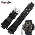 Горячие продажи Силиконовых Ремень 28*15 мм Для Casio GW-4000/GA-1000/GW-A1000/GW-A1100/G-1400 Резиновые ремень smart Watch аксессуары