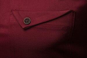 Image 5 - สีขาว Mandarin COLLAR เสื้อผู้ชาย 2019 ฤดูใบไม้ผลิใหม่ Slim ยาว Henley เสื้อ Mens ธุรกิจชุดลำลองเสื้อ Homme