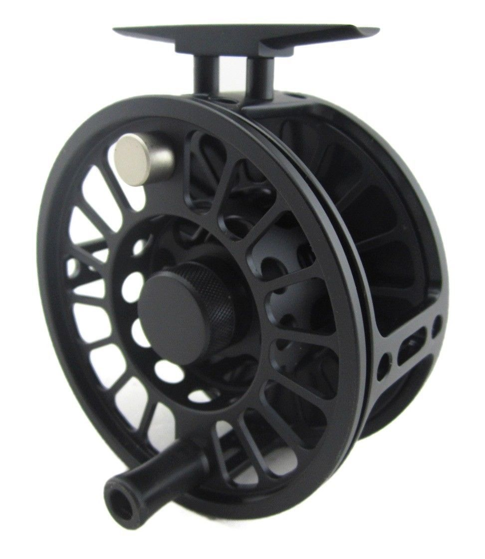 Aventik CNC Machine Cut 12/14wt Matt Black Aluminum Fly Fishing Reel NEW цена 2017