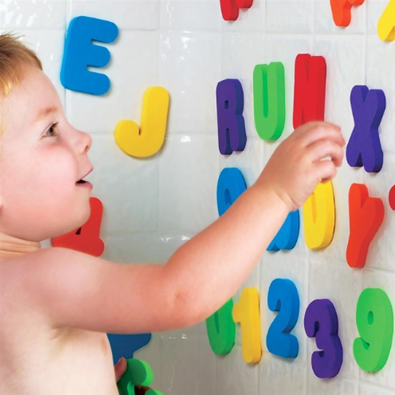 36PCS/SET Bath Educational Learning Toys Foam Alphabet Letters Digital Total Tablets Foam Stickers Children Puzzle DIY Toy Set alphabet set magnetic upper case letters 4 by rubbabu