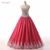 Puffy Cheap Quinceanera Dresses 2018 Ball Gown Sweetheart Sequins Sparkle Beaded Crystals Lace Sweet 16 Dresses
