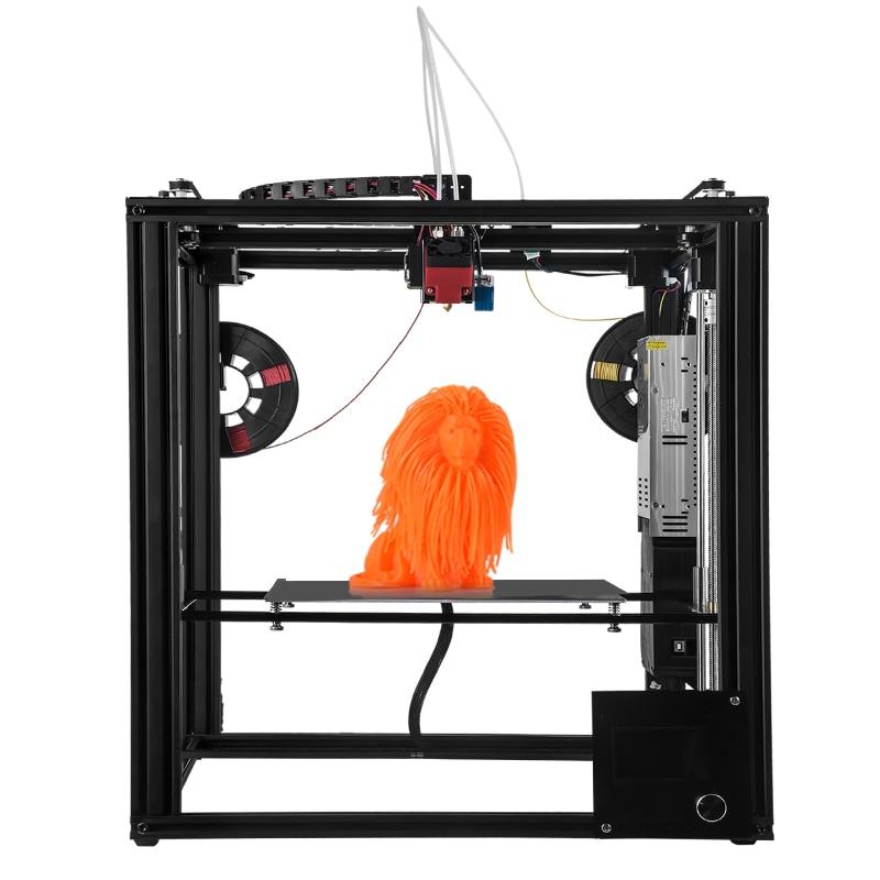 ZONESTAR Large Dule Extruder Mix Color Size 300x300x400 3D Printer Auto Level Laser Engraving Full