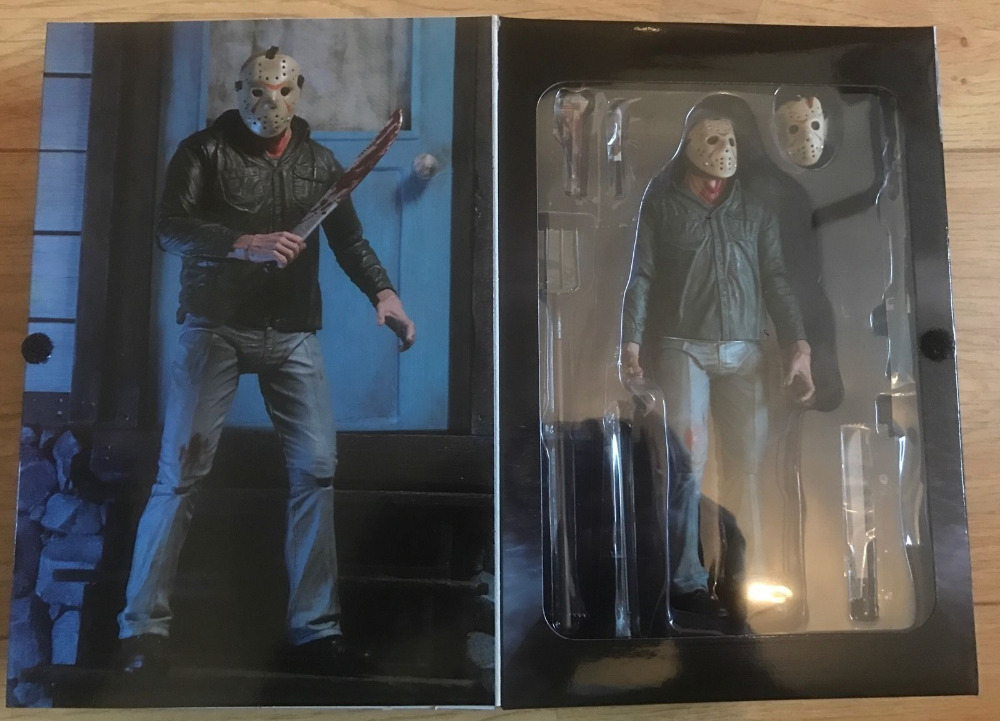 Great NECA 18CM Friday The 13TH 3D Freddy Vs Jason PVC Action Figure Collection Model Toy neca friday the 13th the final chapter jason voorhees pvc action figure collectible model toy 7inch 18cm
