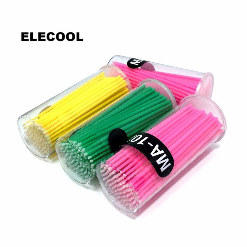 ELECOOL 100PCS Plastic Eyelash Makeup Brushes Cleaning Stick Cotton Swab Eyelash Extension Mascara Clean Brush Applicator Tool