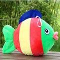 Super cute big colorful fish children plush toys  furnishing articles simulation fish Free shipping