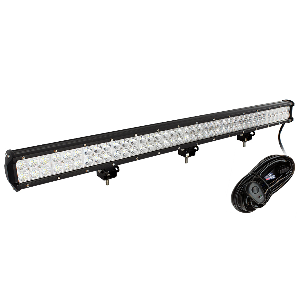 weketory 36.5 inch 234W LED Work Light Bar for Tractor Boat Off-Road 4WD 4x4 Truck SUV ATV Spot Flood Combo Beam with Wiring 24 120w cree off road led work light bar flood spot combo beam 3w led 9000 lumen great for jeep cabin boat suv truck car atv