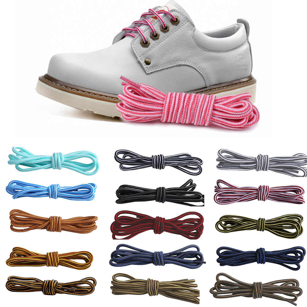 1Pair 15 Colors New Shoelace Top Quality Polyester Solid Classic Round Shoelaces Casual Sports sneakers Boots Lace 120cm