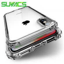 SUYACS Luxury Shockproof Bumper Transparent Silicone Phone Case For