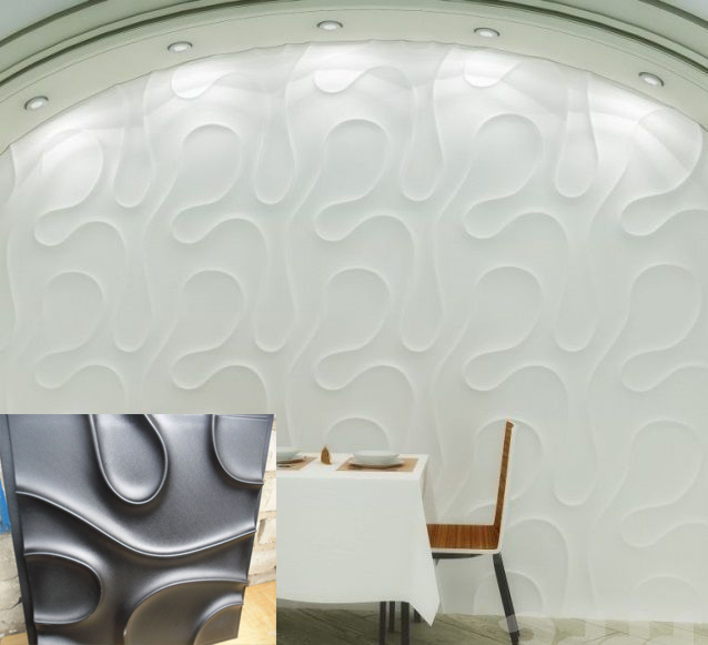Plastic Mold For Plaster 3d Decorative Wall Panels Veil New Design