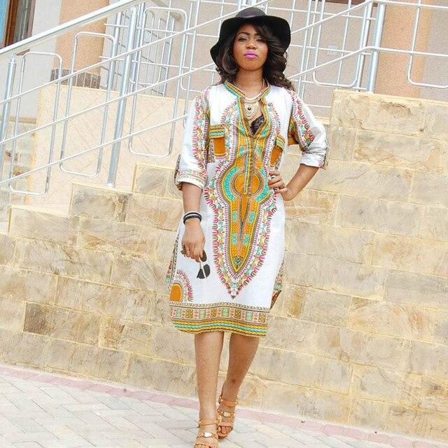 S 3XL! Women Autumn T shirt Dress 2017 Traditional African Dashiki ...