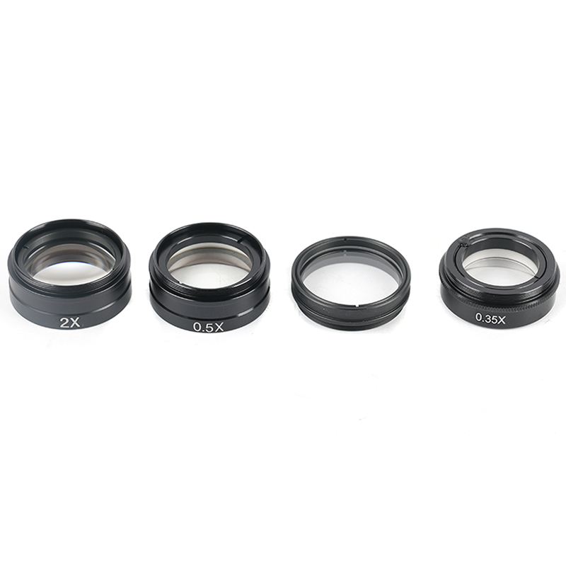 0.35X 0.5X 2X 1X Barlow Lens 42mm Mounting Thread Microscopio Camera Objective Lens For 10A 120X/180X/300X Lens