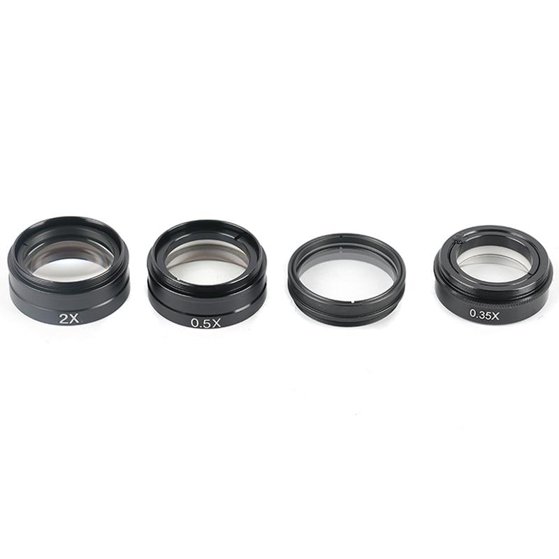 0.35X 0.5X 2X 1X objectif Barlow 42mm filetage de montage objectif de caméra Microscopio pour objectif 10A 120X/180X/300X